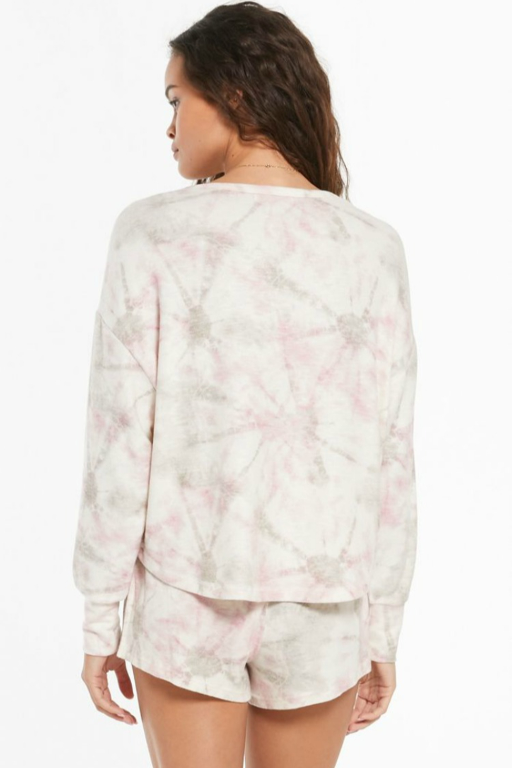 z supply Sun Ray Tie Dye Top - Back Cropped Image