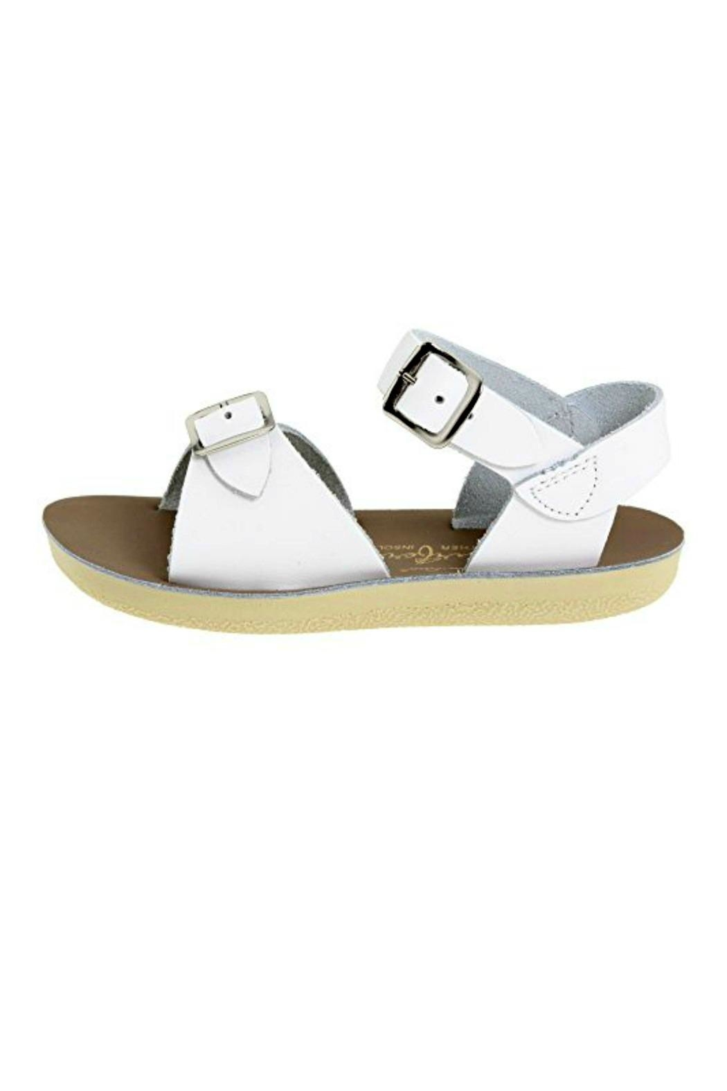 Salt Water Sandals Sun-San White Surfer - Front Cropped Image
