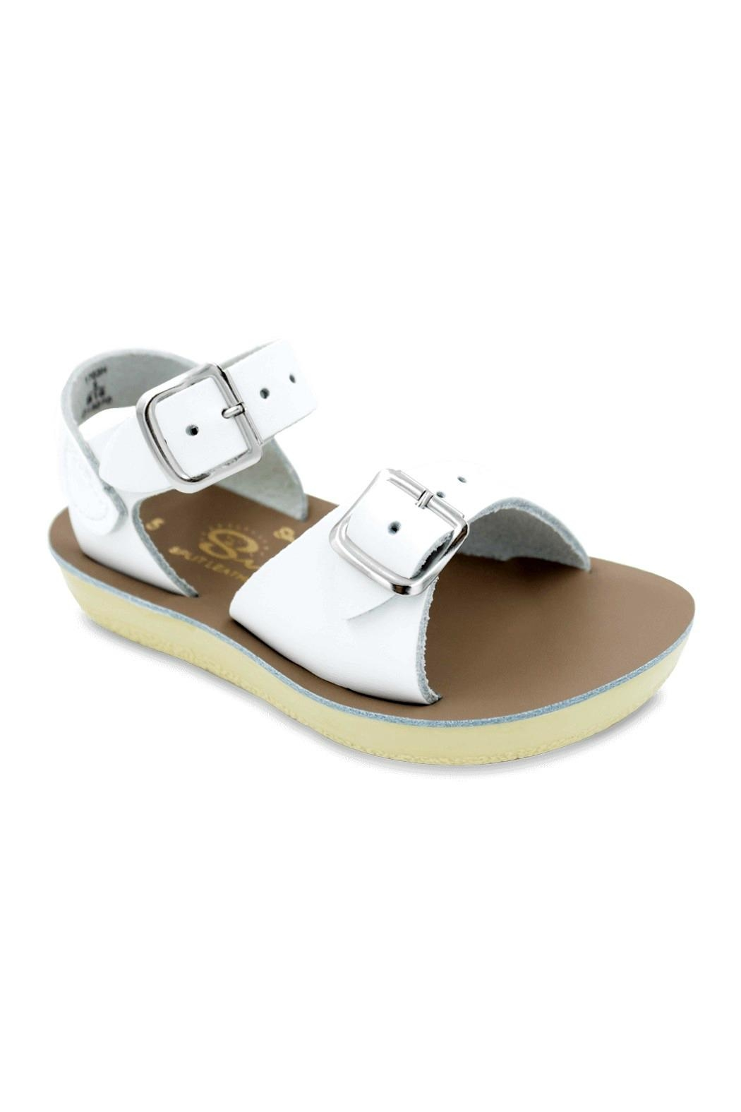 Salt Water Sandals Sun-San White Surfer - Back Cropped Image