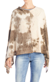 CoCo and Carmen  SUN SETTER TIE DYE PONCHO - Front cropped
