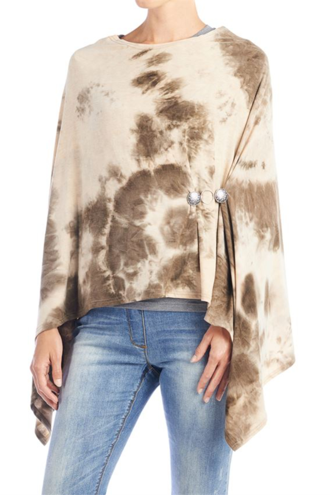 CoCo and Carmen  SUN SETTER TIE DYE PONCHO - Side Cropped Image