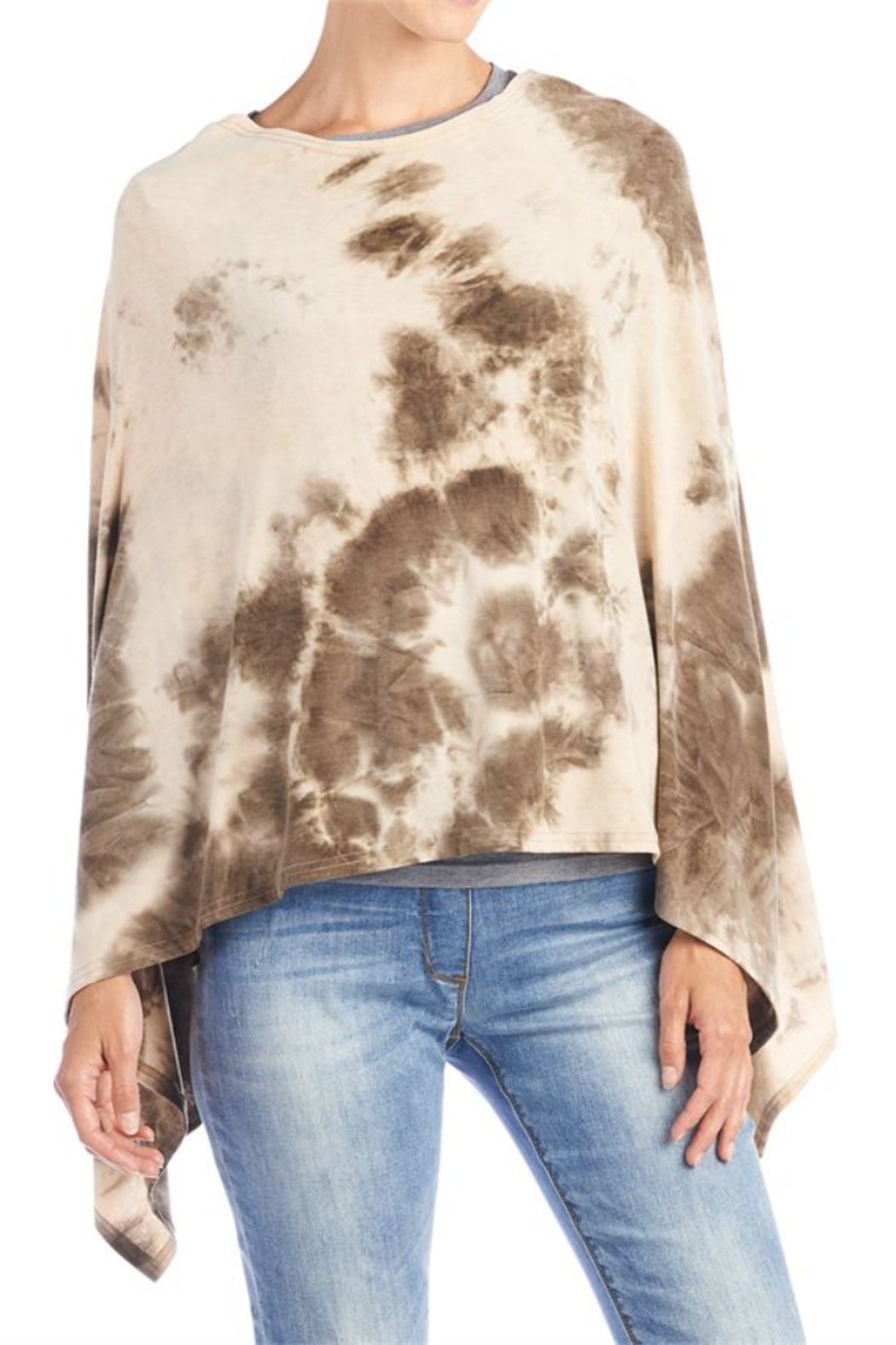 CoCo and Carmen  SUN SETTER TIE DYE PONCHO - Back Cropped Image
