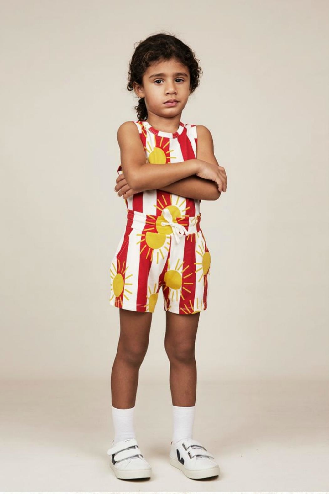 Mini Rodini Sun Stripe Shorts - Side Cropped Image