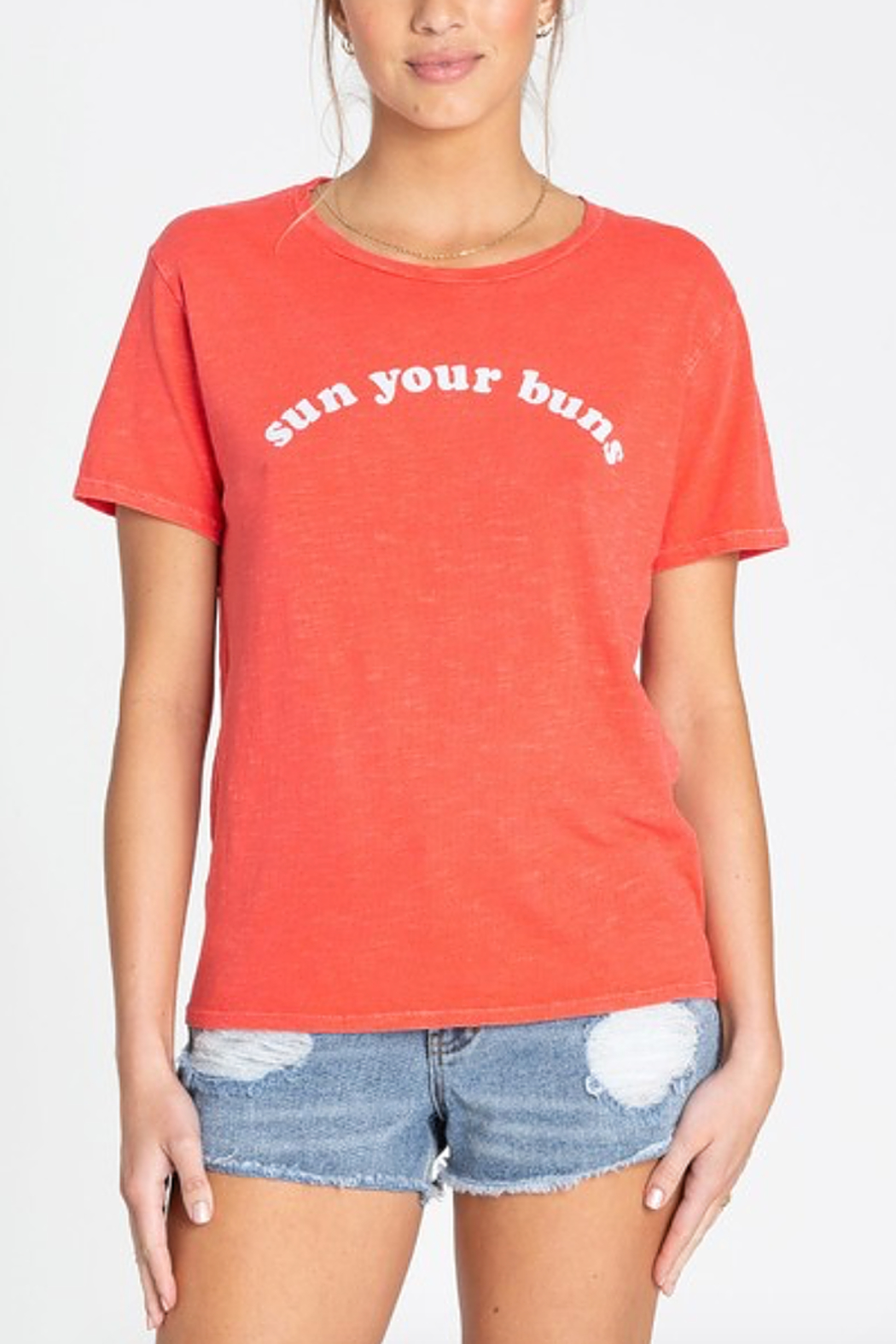 Billabong Sun Your Buns Tee - Front Cropped Image