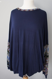 Sun & Moon Southwest Accent Top - Front full body