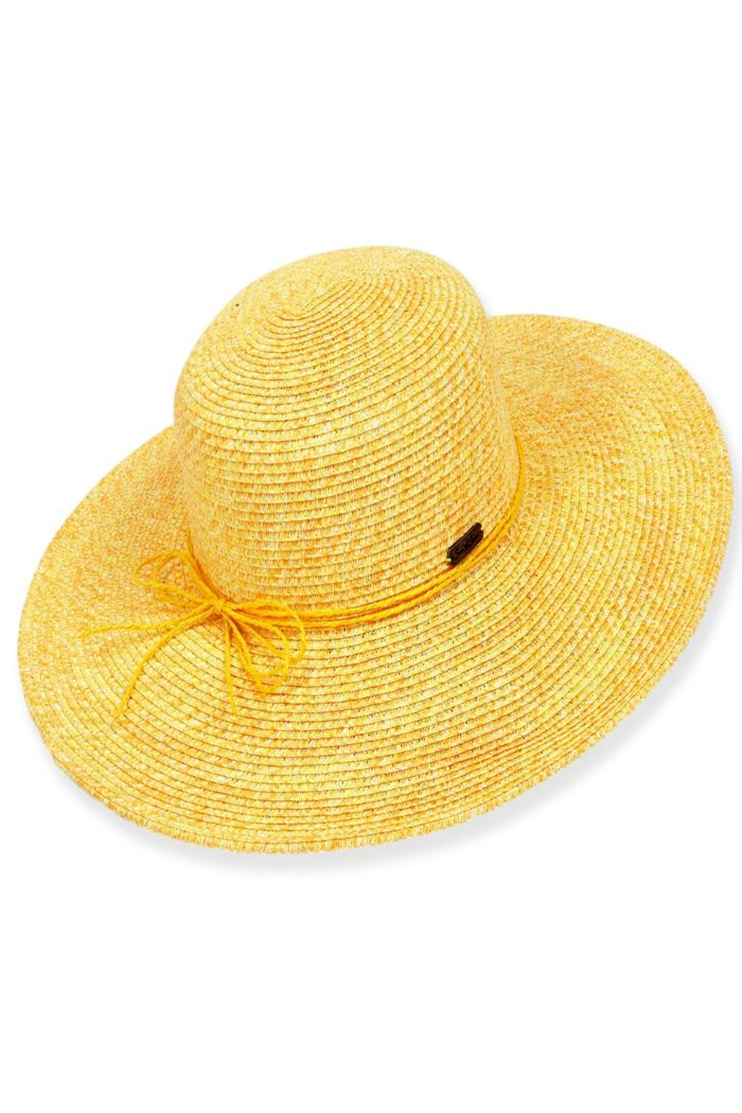 sun and sand Chiara Paperbraid Hat - Front Cropped Image
