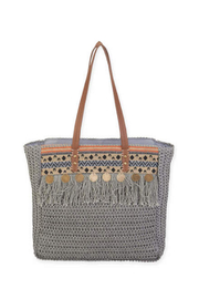 Sun n Sand Crochet Shoulder Tote - Product Mini Image