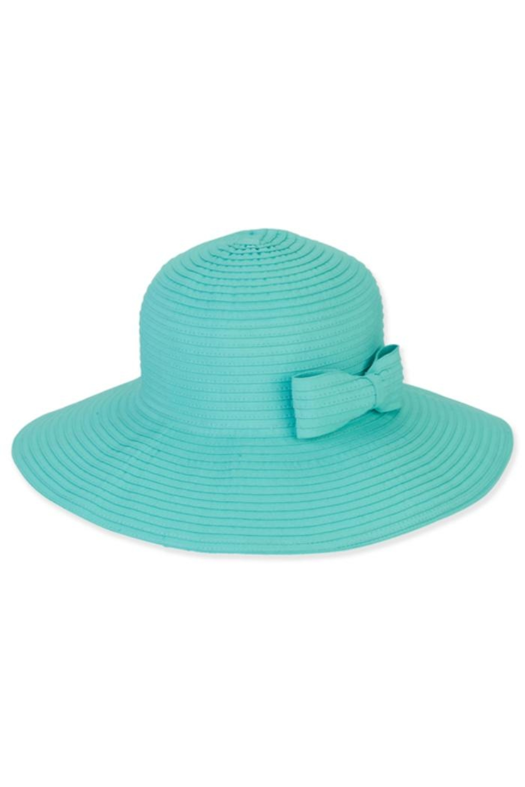 Sun n Sand Foldable Hat W/bow-Trim - Front Cropped Image