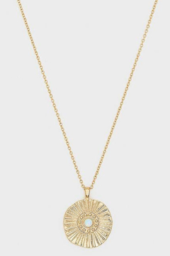 Gorjana Sunburst Coin Necklace - Product List Image
