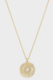Gorjana Sunburst Coin Necklace - Product Mini Image