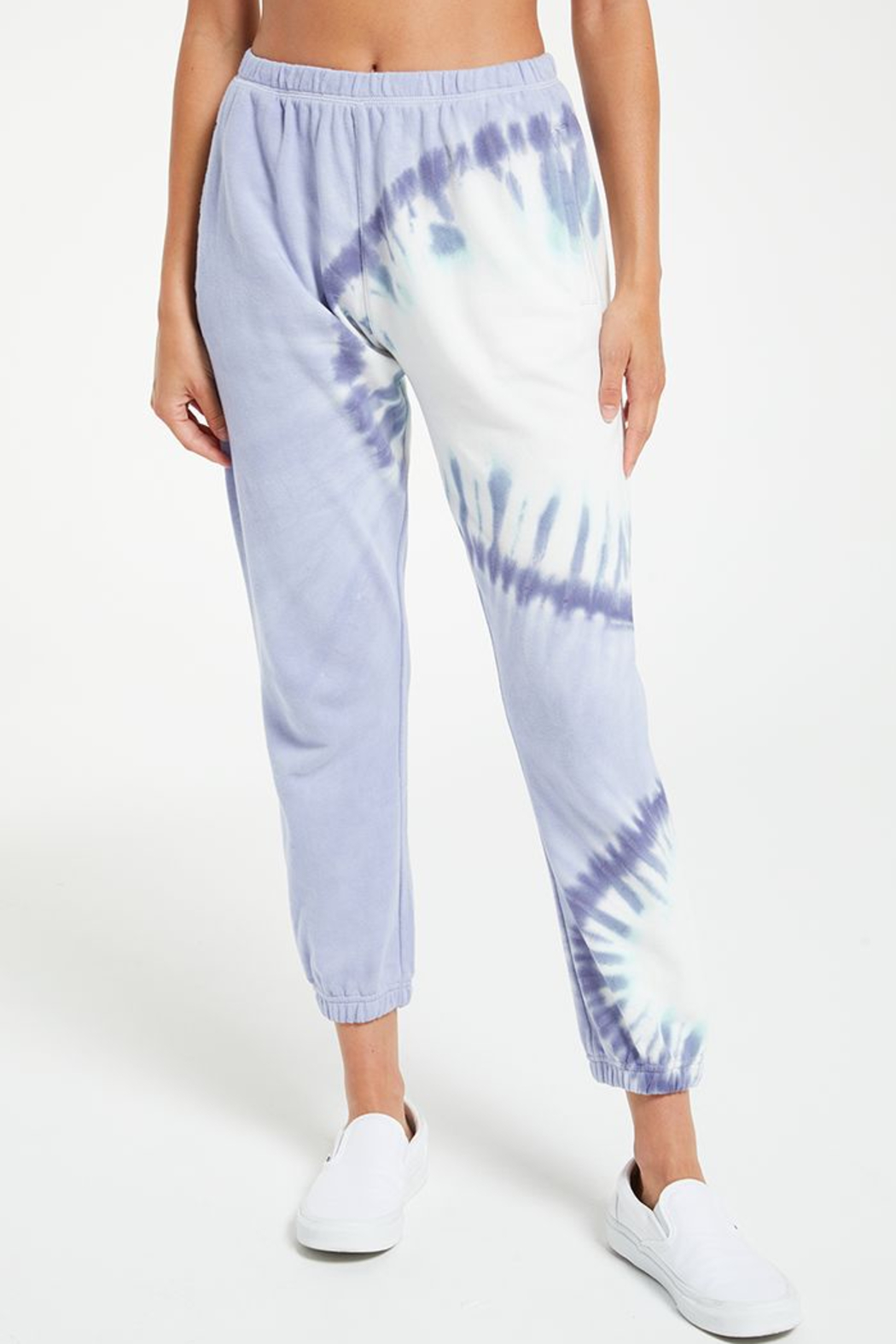 z supply Sunburst tie dye jogger - Front Full Image