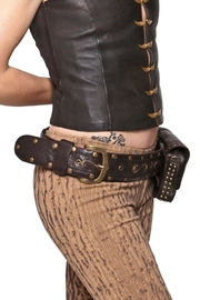 Sundari Leather Festival Belt - Front full body