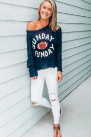 Wooden Ships Sunday Funday Sweater - Front cropped