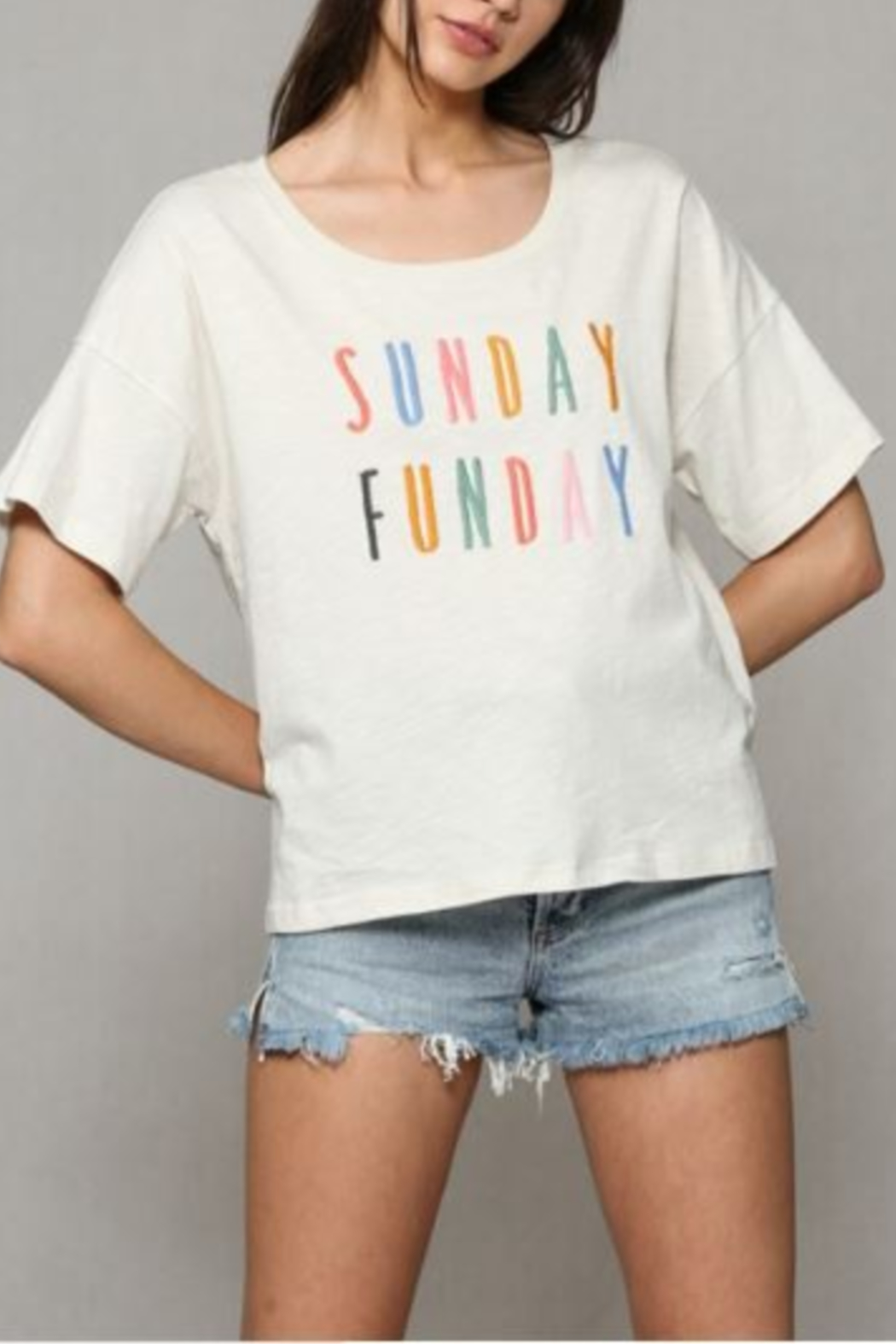 By Together Sunday Funday Tee - Side Cropped Image