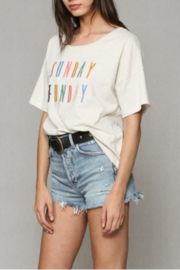 By Together Sunday Funday Tee - Front full body