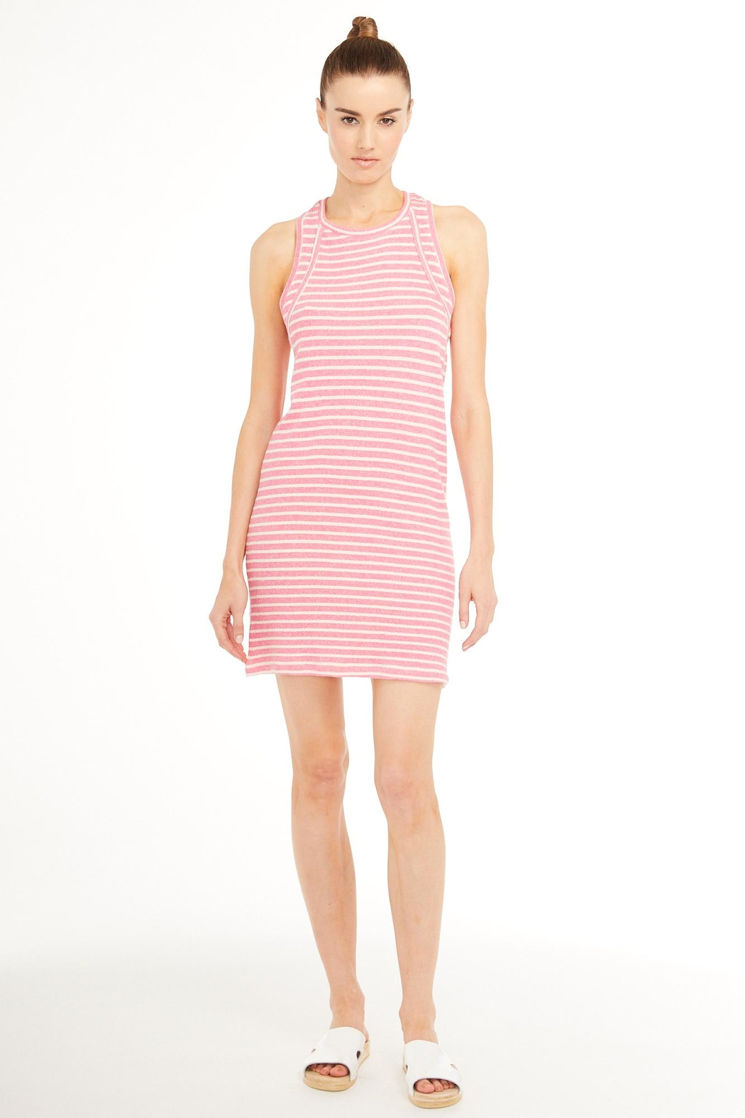 Sundays Terry Stripe Dress - Front Cropped Image