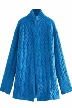 Shoptiques Product: Blue Turtleneck Sweater