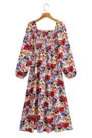 SUNDAYUP Floral Smocked Dress - Product Mini Image