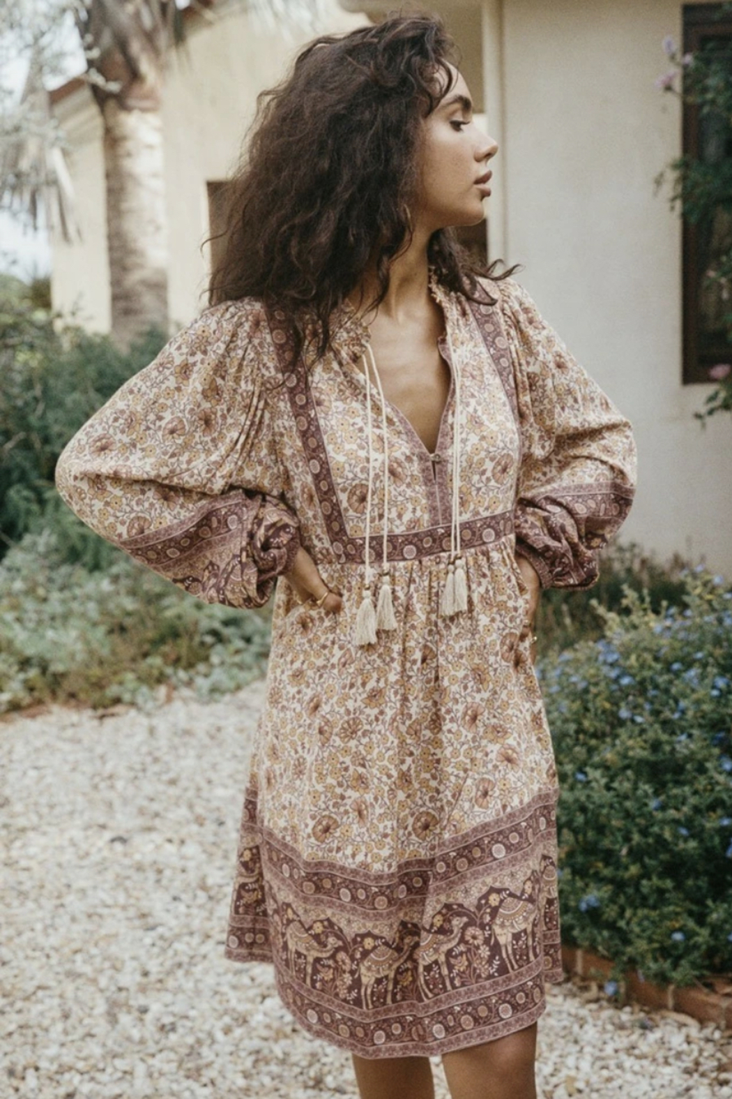 Spell & the Gypsy Collective Sundown Boho Mini Dress - Side Cropped Image