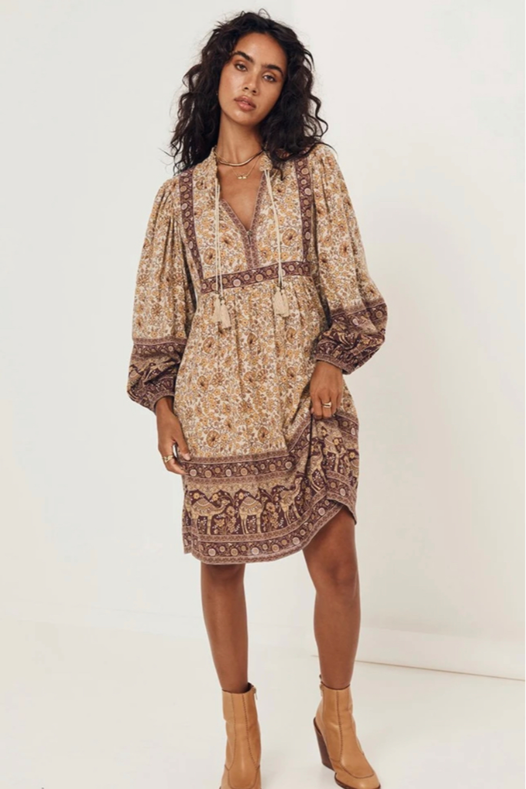 Spell & the Gypsy Collective Sundown Boho Mini Dress - Back Cropped Image