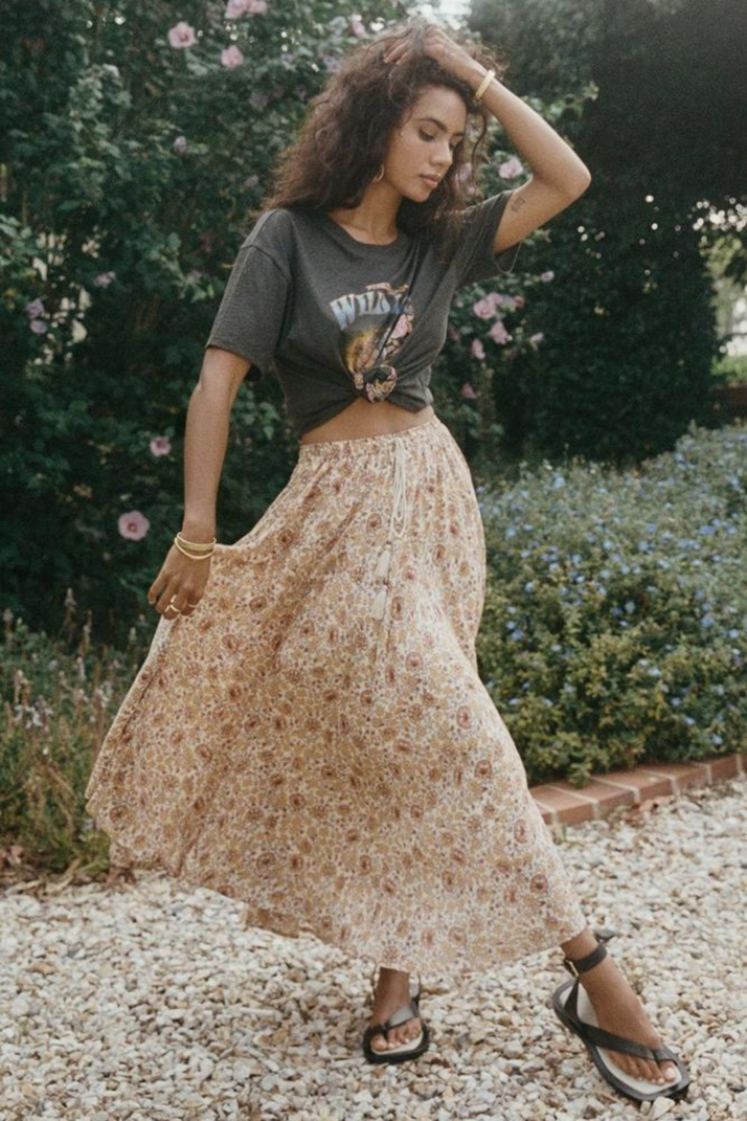 Spell & the Gypsy Collective Sundown Kerchief Skirt - Back Cropped Image