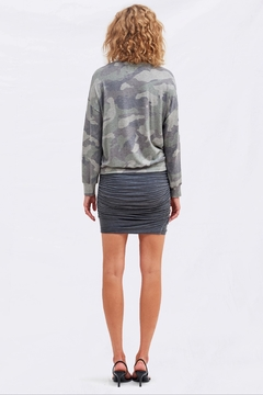 Sundry Camo Drapey Sweatshirt - Alternate List Image