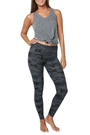 Sundry Black Camo Yoga Pant - Front full body