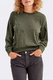 Sundry Embroidered Star Sweatshirt - Front cropped