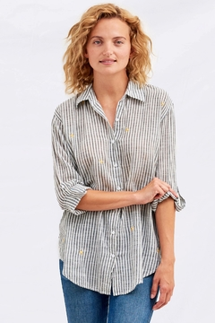 Sundry Embroidered Suns Shirt - Product List Image