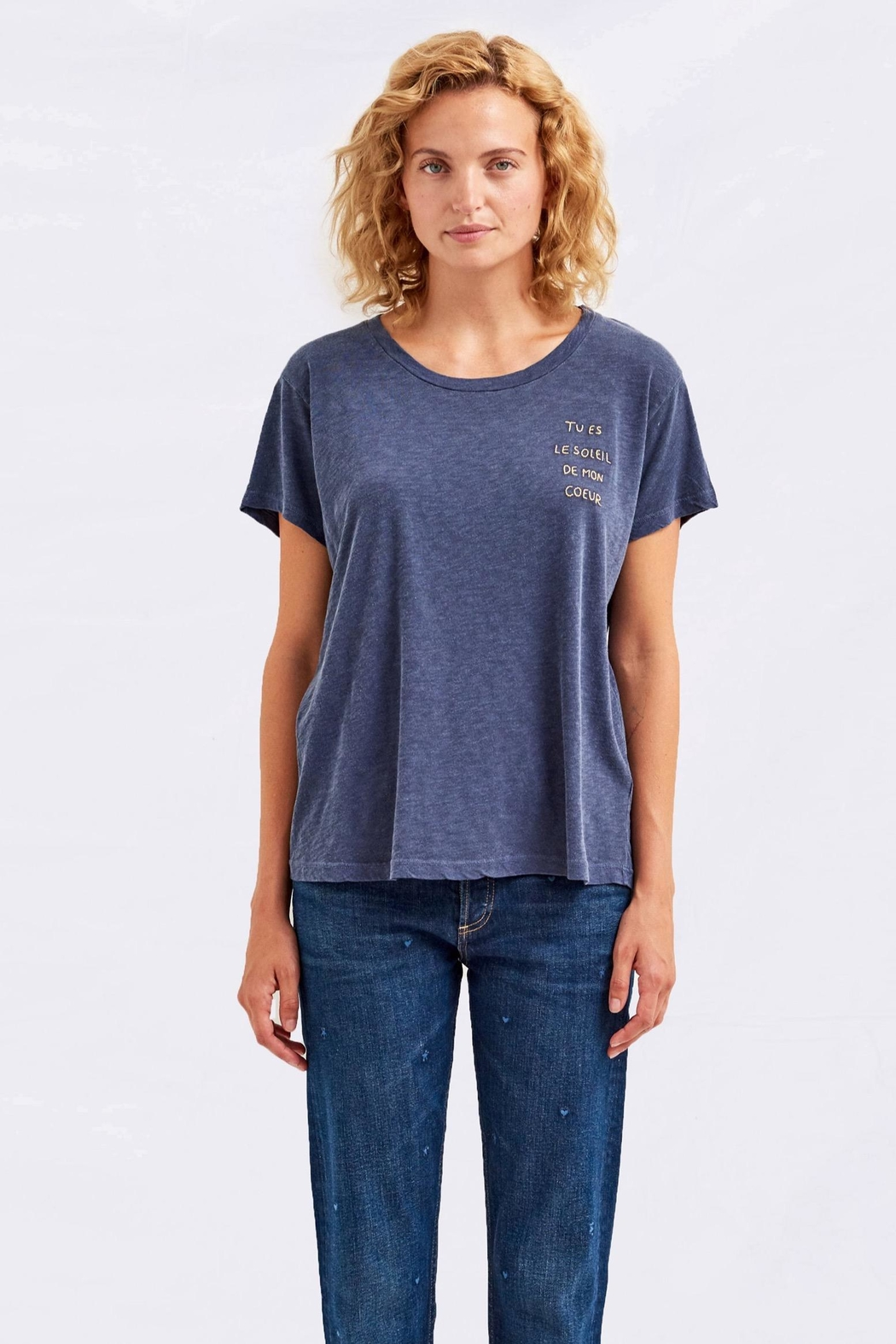 Sundry Le Soleil Tee - Front Cropped Image