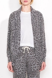Sundry Leopard Print Cardigan - Front cropped