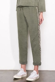 Sundry Leopard Trim Sweats - Front cropped