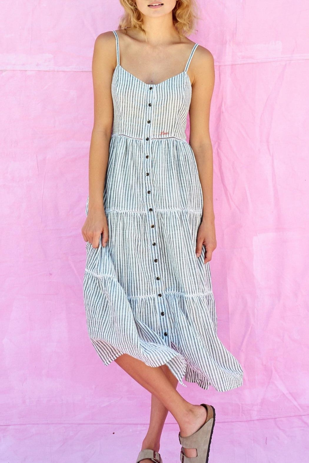 Sundry Love Tiered Sundress - Front Cropped Image