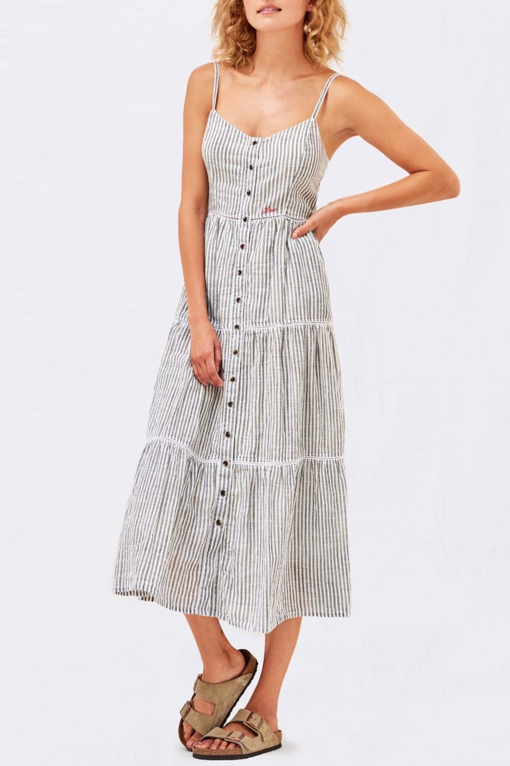 Sundry Love Tiered Sundress - Front Full Image