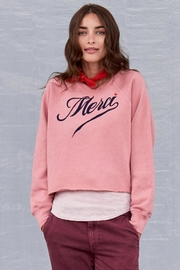 Sundry Merci Cutoff Sweatshirt - Product Mini Image