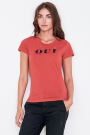 Sundry Oui Boy Tee - Front cropped