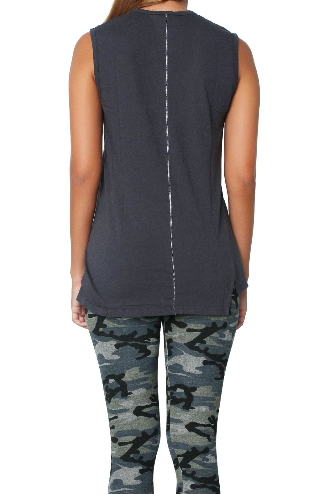 Sundry Ouimerci Asymetrical Tank Top - Back Cropped Image