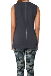 Sundry Ouimerci Asymetrical Tank Top - Back cropped