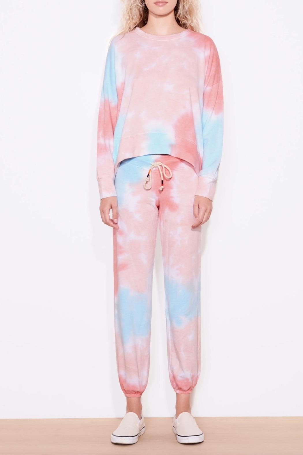 Sundry Oversized Multicolor Sweatshirt - Front Full Image