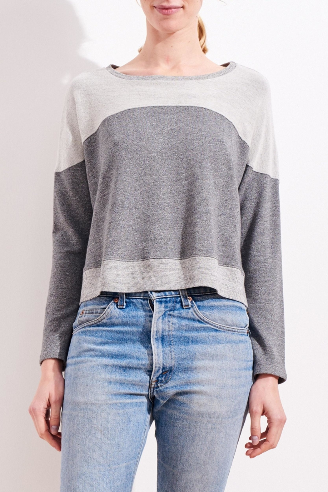Sundry Reversed Yoke Sweatshirt - Front Full Image