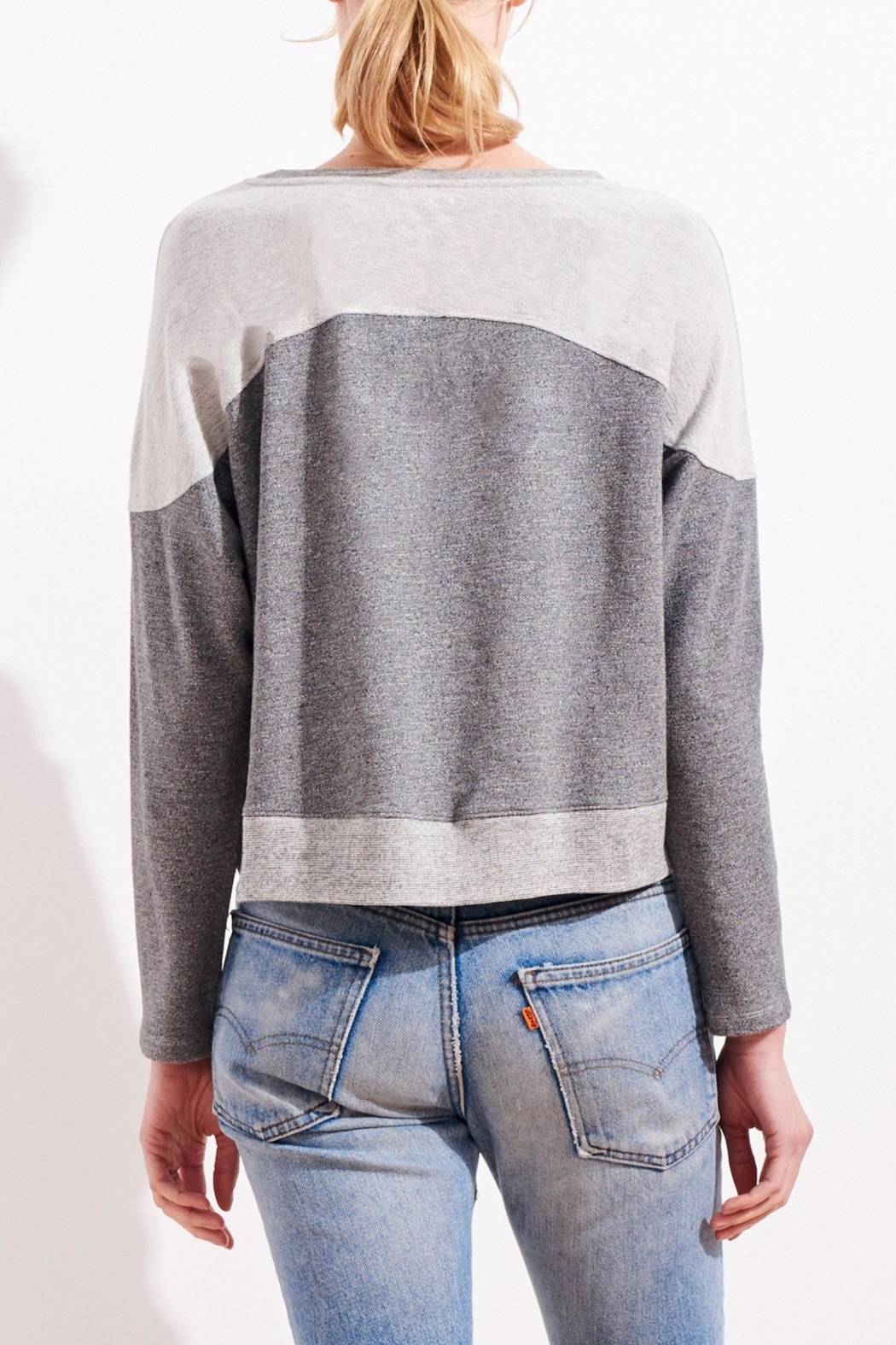 Sundry Reversed Yoke Sweatshirt - Side Cropped Image