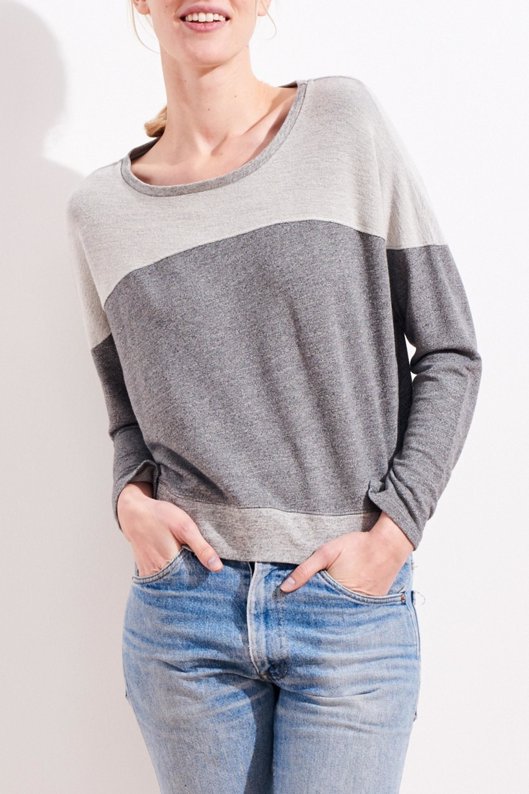 Sundry Reversed Yoke Sweatshirt - Front Cropped Image