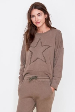 Sundry Star Embroidered Sweatshirt - Alternate List Image