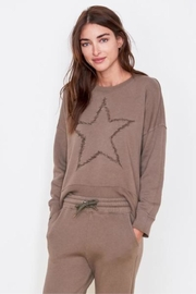 Sundry Star Embroidered Sweatshirt - Front cropped