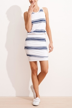 Sundry Stripe Rouched Dress - Alternate List Image