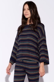 Sundry Stripe Sweater - Front cropped