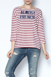 Sundry Striped Graphic Top - Product Mini Image