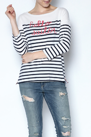 Sundry Striped Hello Sailor Top - Product Mini Image