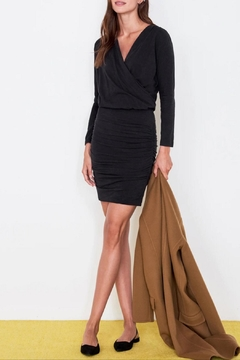 Sundry Surplice Ruched Dress - Product List Image