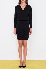 Sundry Surplice Ruched Dress - Front full body